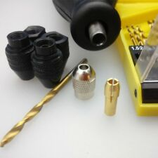 For Dremel Rotary Tools 8x0.75 Chuck Keyless Drill Bit Adapter 0.3-3.2MM Kit US