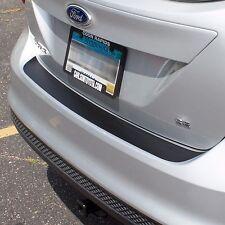 Ford Focus Hatchback 2012-2016 Rear Bumper Sill Cover Protector Trim Matte Black