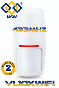 Wireless PIR Motion Sensor with Internal Antenna 433Mhz 1527