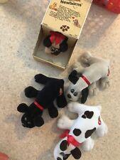 Tonka Vintage 1985 Tan and Brown Pound Puppies Newborns Lot Of 4