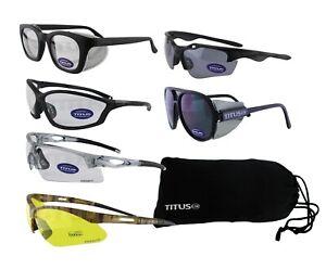 TITUS G-Series Safety Glasses Shooting Range Riding Eye Protection ANSI Z87 USA