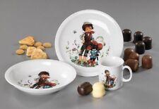 Kindergeschirr Der gestiefelte Kater Porzellan Frühstücks-Set geschirr 3-tlg