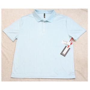 New Hudson & Barrow Light Blue Polo Shirt Top XL Short Sleeve Mans X-Large U28