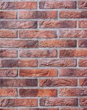 ERISMANN RED TEXTURED BRICK WALL EMBOSSED RED HOUSE BRICK WALL WALLPAPER 4303-1