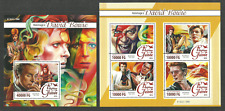 GUINEA 2016 POP ROCK MUSIC DAVID BOWIE SET 2 M/SHEETS MNH
