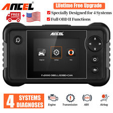 OBD2 Scanner Automotive Code Reader Engine Airbag ABS Transmission Reset Tool