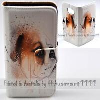 For OPPO Series - Bulldog Portrait Theme Print Wallet Mobile Phone Case Cover