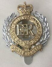 RE ROYAL ENGINEERS METAL CAP BADGE - British Army Issue