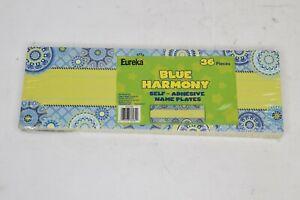 NEW Eureka Blue Harmony Teacher Supplies Self-Adhesive Student Nametags 36pcs