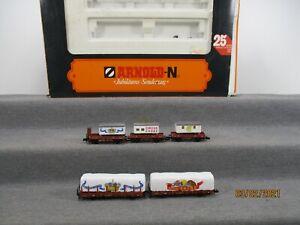 Arnold N 0152 Güterwagen-Set 5-teilig Jubiläumszug Circus-Wagen in OVP2