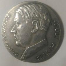 Piece Hitler 1937 1RM Reichsmark Coin Ein Reich Volk Fuhrer ww2 German