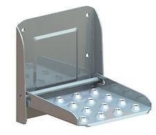 Folding Step Zinc for Caravan, Trailer, Horsebox or large Truck