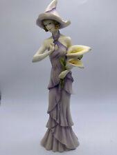 More details for the leonardo collection flower princess tall ceramic figurine