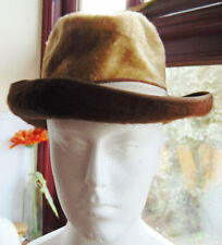 Ladies Vtg Faux Fur Trilby Hat