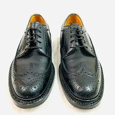 Florsheim Imperial Vintage 5 Nails Wingtip Black Leather 7.5 C