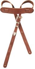 Genuine Gretsch Vintage Tooled Leather Adjustable Guitar Strap, (Walnut)