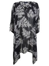 Tommy Hilfiger Women's Printed Cold-Shoulder Top Swim Cover-Up