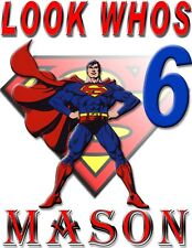 PERSONALIZED SUPERMAN BIRTHDAY SHIRT ADD NAME & AGE FOR FAMILY