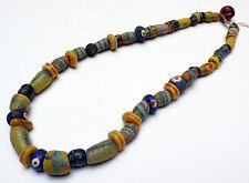Ancien Collier en pâte de verre de Venise Niger Afrique de l'Ouest 19e