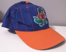 VTG 90s Florida Gators Twins Orange and Blue Snapback Hat Pinstripes