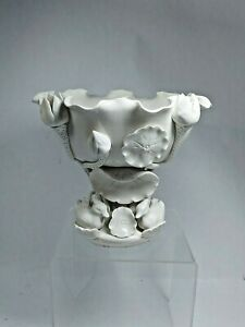 Antique Chinese Porcelain Blanc De Chine White Lotus & Duck Compote