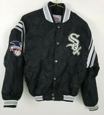 Starter Chicago White Sox Diamond Collection Youth Satin Jacket Size M Black