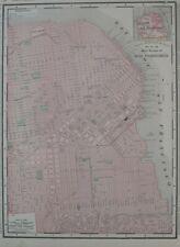 Original 1895 Streetcar Water Lines Map SAN FRANCISCO California Railroads Piers