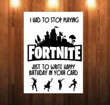 Fortnite birthday card to dad mum brother sister