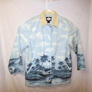 Ralph Lauren Naval Supply Co. Women's Jacket Size L 100% Cotton Sky Blue