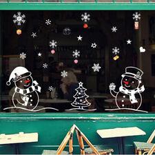 Snowman Christmas Sticker Bathroom Sticker Painting Supplies Wall Stickers LR