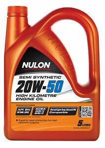 Nulon Semi Synthetic High KM Engine Oil 20W-50 5L HK20W50-5 fits Toyota Dyna ...