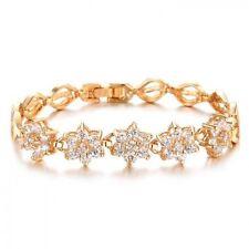 Rose Gold Plated Flowers & Plants Fashion Bracelets