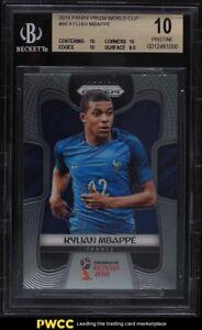 2018 Panini Prizm World Cup Kylian Mbappe ROOKIE RC #80 BGS 10 PRISTINE