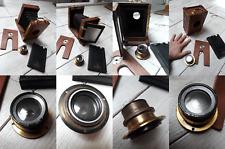 "Antic vintage Wooden Camera +  Lens Anastigmat Double ""Minda"" F=5,6 N°11030"