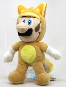 "GENUINE Super Mario Bros Kitsune Fox Luigi Stuffed Plush 9"" Little Buddy 1272"