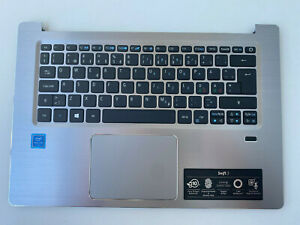 Acer SF314-52 laptop palmrest with touchpad and NORDIC layout keyboard