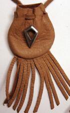 "Tribal design medicine bag- rusty draw (""arrow"") charm"