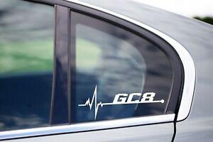 GC8 Is in my Blood Bumper Window Vinyl Decal Sticker Subaru Impreza WRX STi