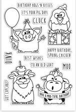 Simon Says Stamp Birthday Farm Animals Stamp Set, SSS101430, Retired