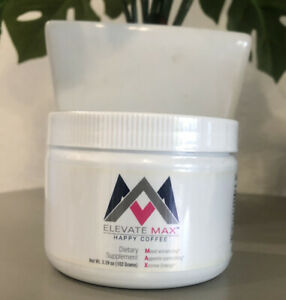 Elevacity Elevate Max Happy Coffee 3.59 oz Jar - New / Sealed! Exp 9/2021