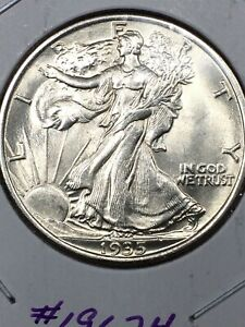 1935 - Walking Liberty Half Dollar - Gorgeous Brilliant Uncirculated