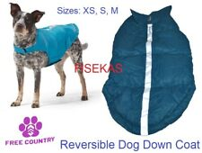 Free Country Teal / Silver Dog Down Coat Reversible Jacket Sizes XS, S, M NEW