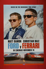 Ford V Ferrari Race Car Matt Damon Christian Bale Movie Poster 24X36 New Ford