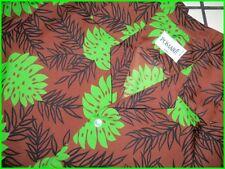 Vtg POMARE Hawaiian LEAF Aloha WIND SHIRT (Poly or Nylon)  sz L EXCELLENT!