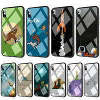 The Adventures of Tintin The little Prince Tempered Glass TPU Case for iPhone X