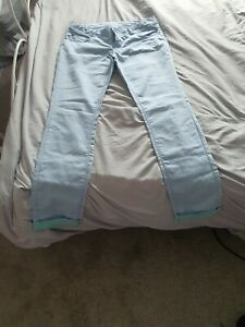 """ladies large (34"""") stitch and soul pale blue skinny fit jeans/trousers"""