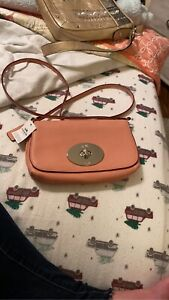 NWT! Coach F52896 LIV Pebbled Leather Crossbody Bag / Clutch in Pink