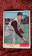 "A ""personally"" autographed 1961 TOPPS GEORGE WITT #286 in Excellent Condition"