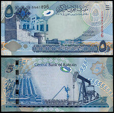 BAHRAIN 5 DINARS (P27) 2008 UNC
