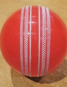 2 x Cricket wind ball orange colour white seam pet gift  hollow practice park